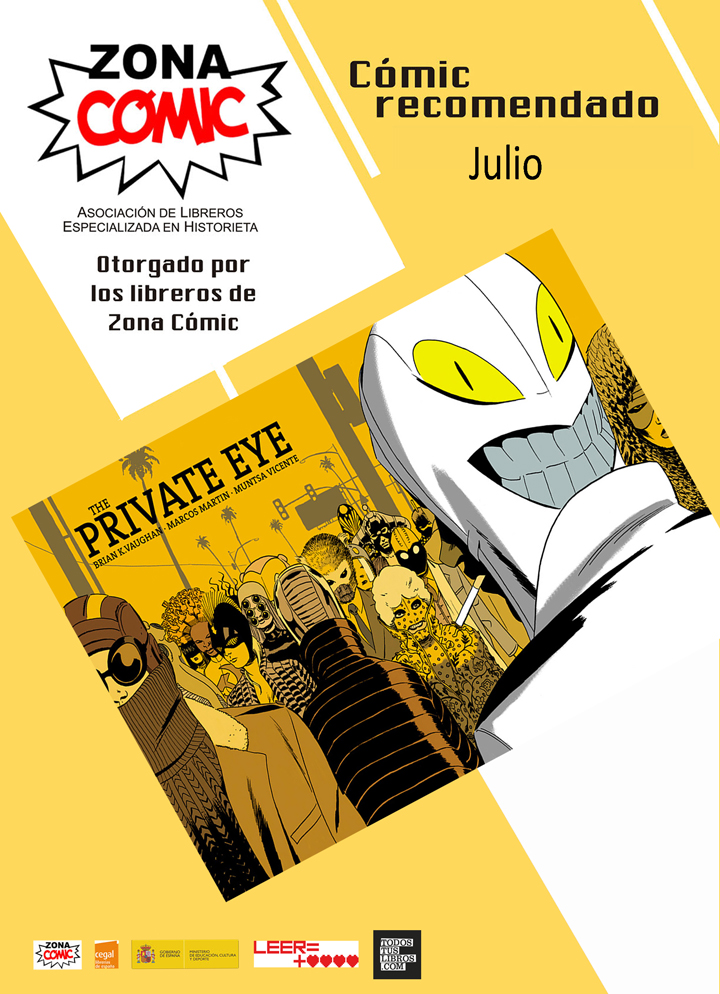 the private eye cómic mes julio